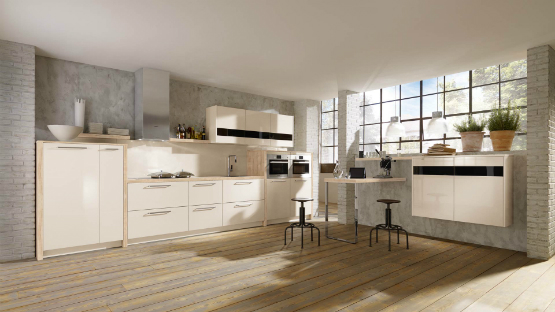 Pearl High Gloss Cashmere Kitchen 1